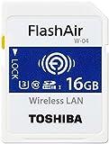 Toshiba Flashair w-04?16?GB SDHCクラス10メモリカード