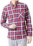(アーケード) ARCADE メンズ 春 ボタンダウンシャツ ブロード ストライプ チェック ギンガム ウィンドペン 長袖シャツ M レッド×ネイビーチェック(4)