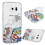Samsung Galaxy S7 Edge ケース スマホケース Lanveni ハードケース ポリカーボネート ペインティング 防塵 キズ防ぎ 保護 録音テープ カラフル 人気