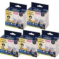 アイリスオーヤマ LED電球 E17 広配光 40形相当 昼白色 2×5個セット LDA4N-G-E17-4T72P