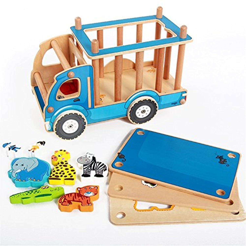 Remeehiかわいいクリエイティブ動物園教育玩具子供動物キャリア形状Matchingブロック車初期学習赤ちゃん用キッズゲームギフト