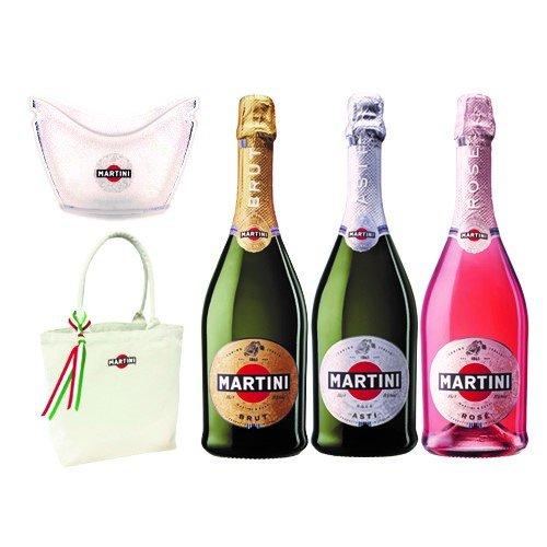 マルティーニ スパークリングワイン 3種飲み比べ ワインクーラー トートバッグ付き 750ml×3本セット