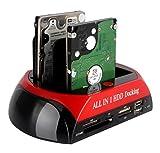 Tumao HDD&SSDスタンド ハードディスク スタンド 2.5/3.5 HDDスタンド HDDクローンスタンド多機能2TB高速ハードディスクケース (レッド・ブラック)