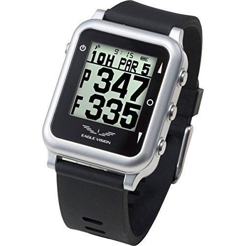 イーグルビジョン ウォッチ4 ブラック(EAGLE VISION watch4) 防水仕様 腕時計型 GPSゴルフナビ 【距離測定器】【日本正規品】【2017年モデル】 朝日ゴルフ用品 EV-717-BK