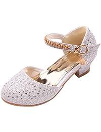 Iypurkmn 女の子 フォーマル靴 ピアノ発表会 演奏会 結婚式 パーティー用 滑り止め ドレス シューズ
