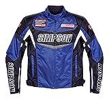 シンプソン(SIMPSON) バイクジャケット ウォータープルーフナイロンジャケット ブルー 4L SJ-7112