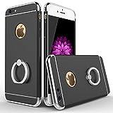 1stモール 【全12種類】 リングホルダー 付き iPhoneケース (iPhone6 Plus/iPhone6s Plus用 ブラック) ST-3PARTSCASE-PLUS-BK