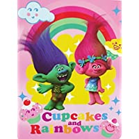 [ドリームワークス]DreamWorks Trolls Plush Throw Blanket ~ 46 x 60 ~ Cupcakes & Rainbows [並行輸入品]