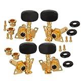 Gold-plated 2R2Lチューニングペグマシーン·ヘッドチューナーForウクレレ4弦ギター