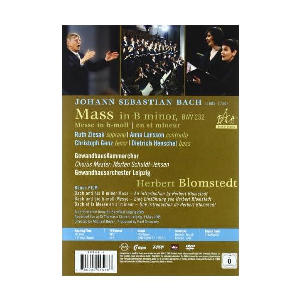 Mass in B Minor [DVD] [...の紹介画像2