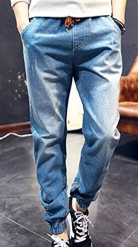 (アルファーフープ) α-HOOP メンズファッション カジュアル ストリート デニム カラー パンツ 10分丈 ボトムス M ~ XXL 大きい サイズ も DME5 (01.ライトブルー(Mサイズ))