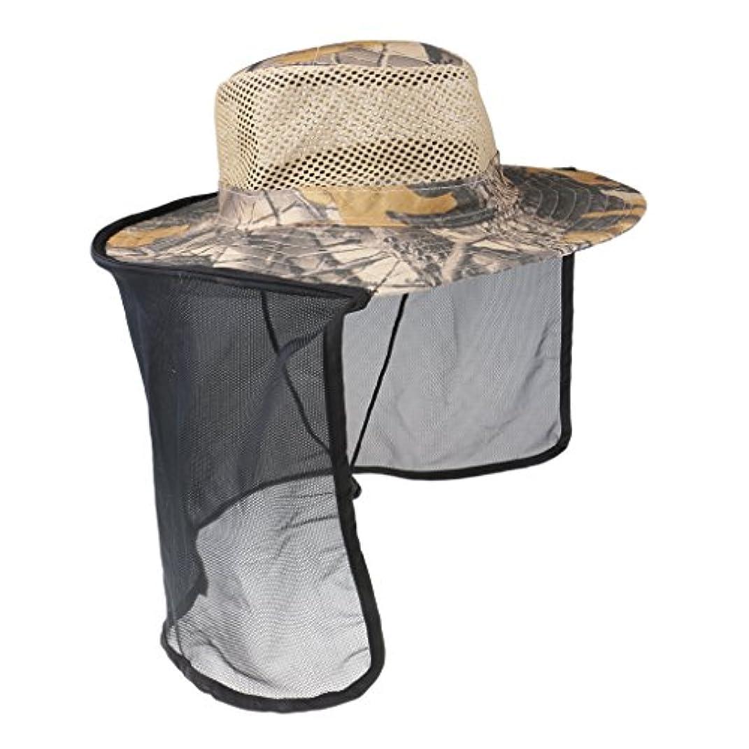 マウスピース宙返り特別なBaoblaze 屋外 作業用 蚊虫よけ ネット帽子 ハット キャップ 保護カバー 日焼け止め 釣り 農作業 園芸 通気性 全6色