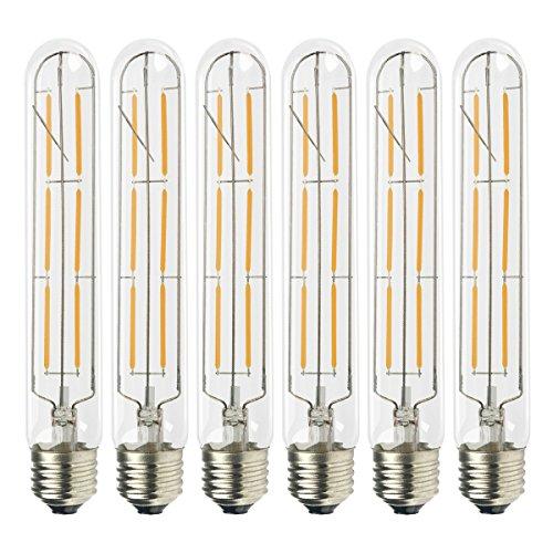 Muslish LED電球 E26口金 (6W) 60W形相当 電球色2700K 広配光タイプ 360度発光 クリア電球 クラシック レトロ電球 シャンデリア用LED電球(6個入 T30)