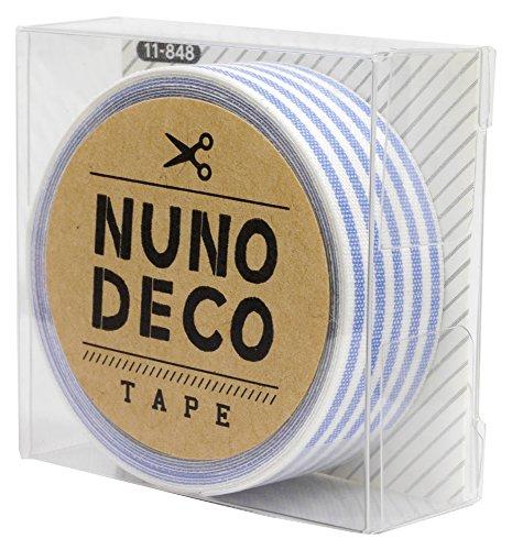 KAWAGUCHI(カワグチ) NUNO DECO TAPE ヌノデコテープ 1.5cm幅 1.2m巻 みずいろしましま 11-848