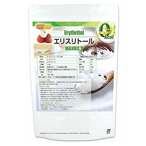フランス産 エリスリトール2.5kg 遺伝子組み換え材料不使用 カロリーゼロ 希少糖 糖質制限 天然甘味料 砂糖代替甘味料