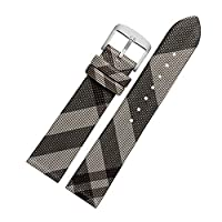 Unisex Calfskin Leather Watch Band Genuine Replacement Fit for Burberry Watch