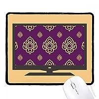王国の黄金の紫のアートの図 マウスパッド・ノンスリップゴムパッドのゲーム事務所