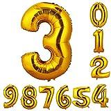 CCINEE 90cm 数字3 風船 数字バルーン ゴム風船 誕生日 パーティー飾りに 2個セット