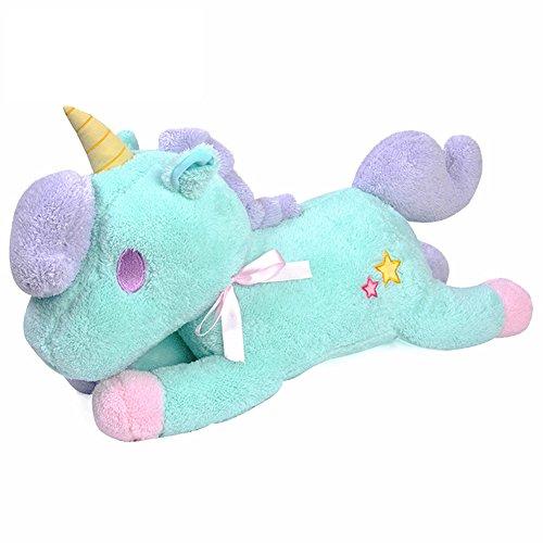 [viviwo]ぬいぐるみ ユニコーン 抱き枕 かわいい人形 55cm 縫いぐるみ おもちゃ ギフト 贈り物 キッズ 女の子 店飾り (M, ブルー)
