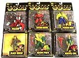 "Marvel マーブル Gold 5"" Figures - Set of 6 -Power Man, Falcon, Captain Marvel, Marvel マーブル Girl, Black Widow and Iron Fist フィギュア 人形 おもちゃ (並行輸入)"