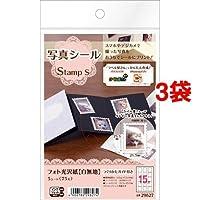 エーワン 写真シール Stamp S 29627(5シート*3コセット) ホーム&キッチン 文房具 ノート・OA用紙 [並行輸入品] k1-49373-ak