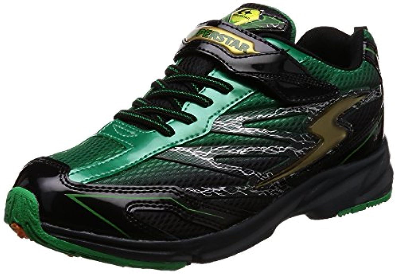 [スーパースター] 運動靴 通学履き 靴 軽量 マジック 幅広 3E キッズ SS J817