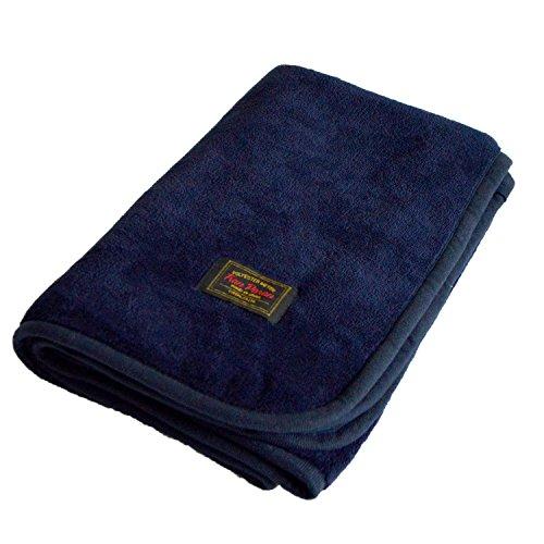 TRANPARAN マイヤーブランケット ひざ掛け 着る毛布 3WAY 70×100cm (インディゴブルー)