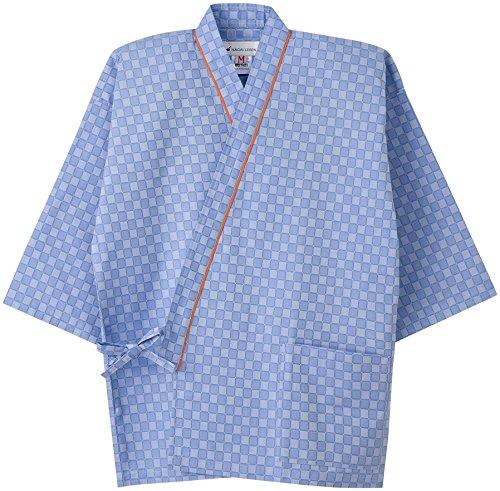 ナガイレーベン 患者衣じんべい型 ブルー L 1枚