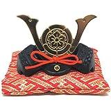 日本製 和風インテリア 兜 端午の節句 五月人形 兜飾り 出世兜 豆兜(座布団付き) 名将 織田信長