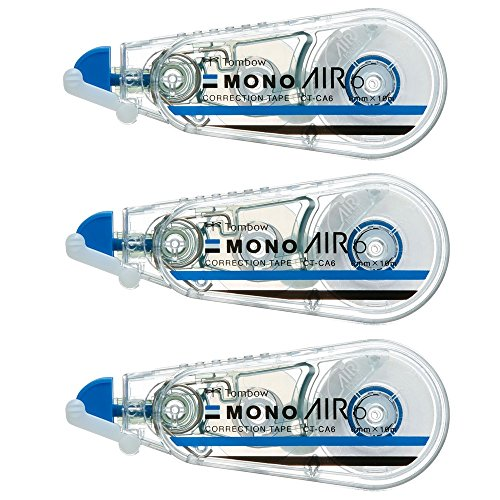 トンボ鉛筆 修正テープ MONO モノエアー 6mm 3個 KPB-326