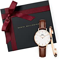 Gift Set Classic Petite St Mawes White Watch  28mm+ Cuff RG Small