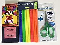 学校のサプライズバンドル鉛筆 + 消しゴム + はさみ + クレヨン。