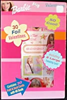 30 Barbie Foil Valentines with Seals