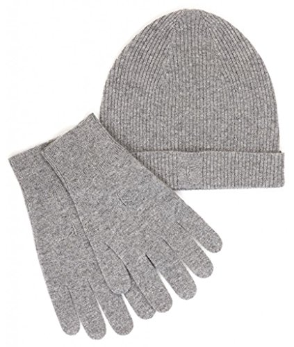 カシミア100% ニット帽&グローブ メンズ/ライトグレー Citizen Cashmere シチズンカシミア 48 400-05-09