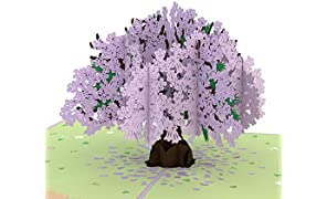 Lovepop Jacaranda Pop Up Card, Lovepop Card, Anniversary Card, 3D Nature Card, Birthday Card, Mothers Day Card, Tree Card, Summer Card, 3D Greeting Cards