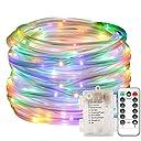 ロープライト LED チューブライト 防水 イルミネーション ライト 電池式 10m 100 電球 8点灯パターン リモコン付 電飾ライト クリスマス お庭 結婚式 パーティーなどに最適