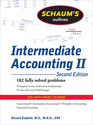 Download Schaum's Outline of Intermediate Accounting II, 2ed 0071611665
