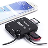 MAXAH® 【スマホOTGカードリーダー】7 in 1 USB付き MS/M2/SD/USB/HUB/OTG アダプタカードリーダー  Samsung Galaxy S3/S4/S5/Note 2/Note 3/Note 4/Tablets/ASUS/TF201/Acer/A500 他の接続できる対応機種 [並行輸入品]
