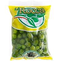 ラロッカのグリーンオリーブ大粒 種あり【500g】【袋タイプ】