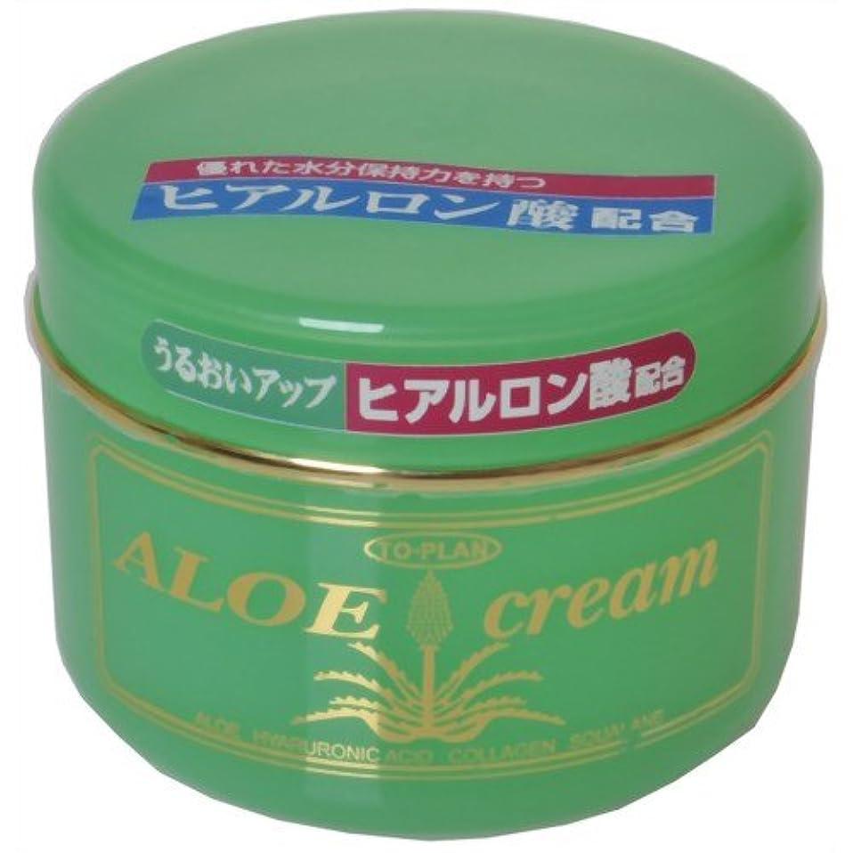 文険しい化合物TO-PLAN(トプラン) ヒアルロン酸?アロエエキス?スクワラン配合アロエクリーム170g