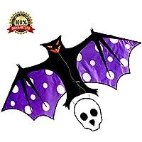 Bat Kite耐久性ナイロンSingle Line Kite for Kidsアウトドア楽しい活動の簡単に組み立て、大人のLaunch and Fly