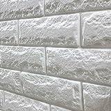 壁紙 レンガ シール タイル 補修 ブリック [ホワイト] 30cm×100cm 軽量レンガシール 壁紙シール ウォールシール アクセントクロス ブリックステッカー はがせる 壁シール レンガ シート 壁用 アンティークレンガ