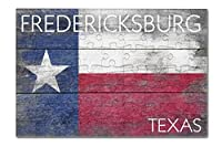 Fredericksburg、テキサス–テキサス素朴な状態フラグ( 8x 12プレミアムアクリルパズル63ピース)