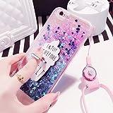 iPhone5 / 5s / 5se アイスクリーム スマホケース (ブルーラメ) グリッター TPU/バンカーリング スマホリング