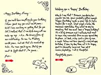 Quiplip Handwritten Yours Truly Birthday Cards 6-Pack (YT09116PCK) [並行輸入品]