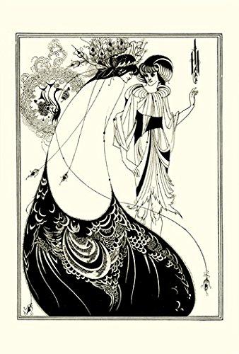 BiblioArt Series オーブリー・ビアズリー「孔雀の裳裾」 ジークレープリント(額絵)