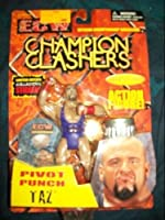 ECW Champion Clashers Pivot Punch Taz Hardcore Action Figure With Limited Edition Collectors Strickers by Toymakers 2000
