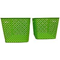Starplast デコバスケット 正方形 (2パック) グリーン