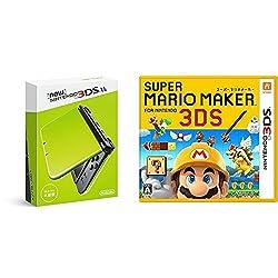 Newニンテンドー3DS LL ライム×ブラック + スーパーマリオメーカー for ニンテンドー3DS - 3DS セット