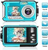 デジカメ 防水 防水カメラ デジカメ 水中カメラ デジタルカメラ スポーツカメラ 1080P 24.0MP デュアルスクリーン日本語説明書付き